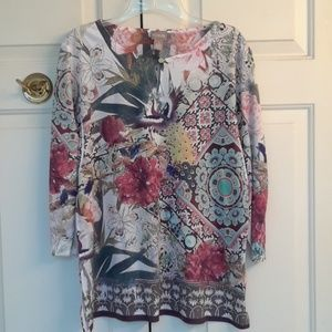 Chico's colorful top nwt
